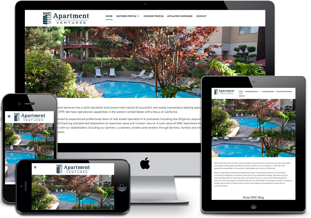 Nnc apartment ventures for Apartment web design